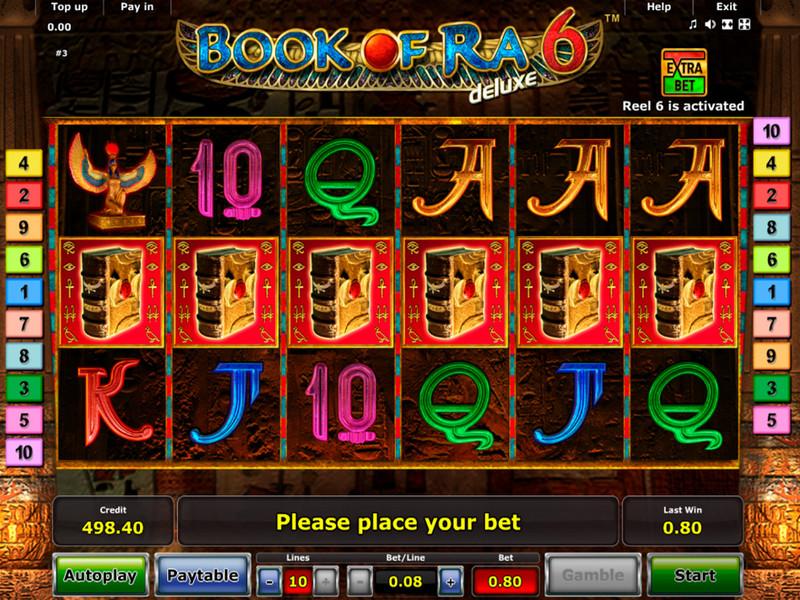 Jouez gratuitement au célèbre jeu de machine à sous Book of Ra 6